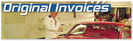 Original Ford Invoices