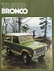 76 Bronco Sales Brochure